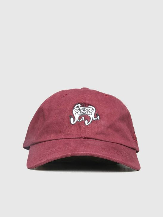 The Quiet Life Camera Hands Dad Hat Maroon 18FAD2-2212-MAR