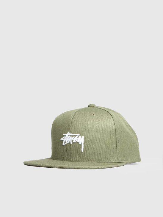 Stussy Ho18 Stock Cap Olive 0403