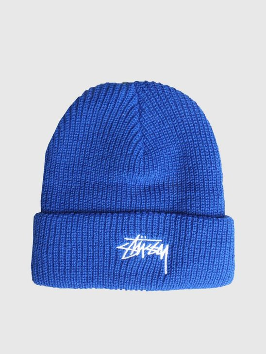 Stussy Ho18 Stock Cuff Beanie Royal 0807