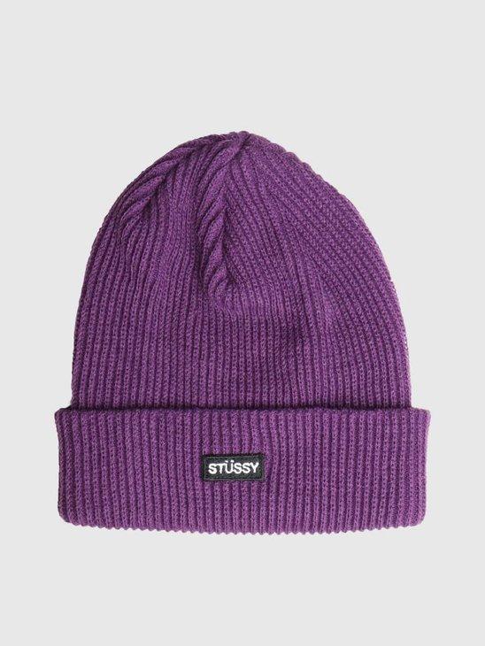 Stussy Small Patch Watch Cap Beanie Purple 0809