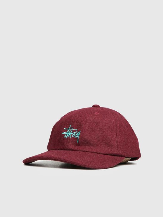 Stussy Stock Wool Low Pro Cap Mauve 0852
