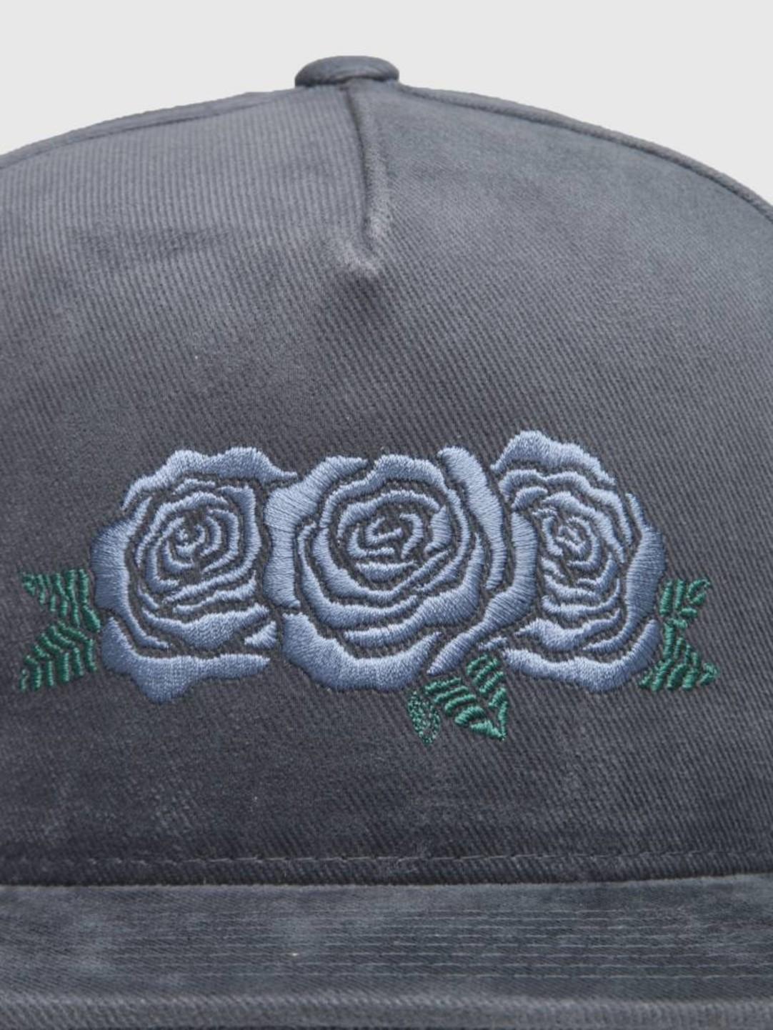 HUF HUF Triple Rose Snapback Hat Moon Indigo Ht00284