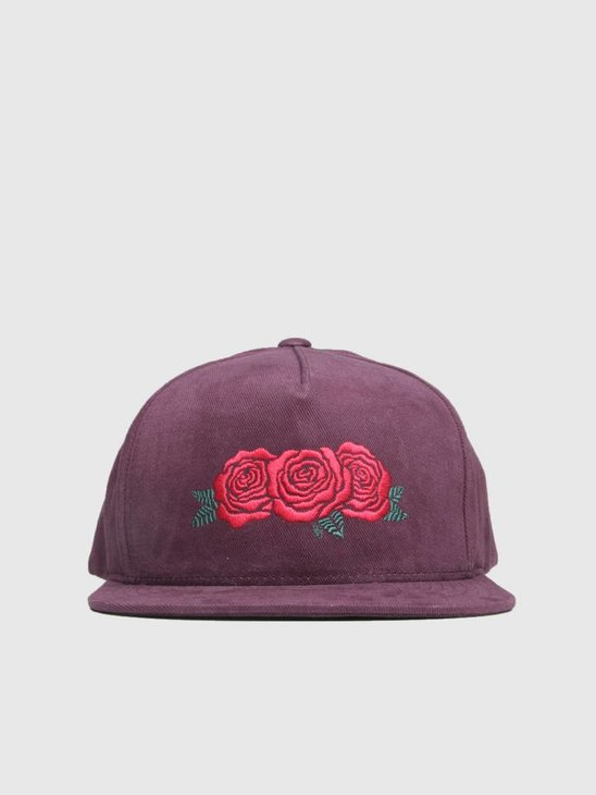 HUF Triple Rose Snapback Hat Port Royale Ht00284