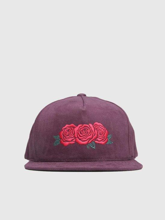HUF Triple Rose Snapback Hat Port Royale Ht00284