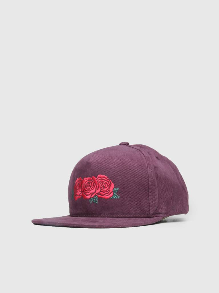 HUF HUF Triple Rose Snapback Hat Port Royale Ht00284