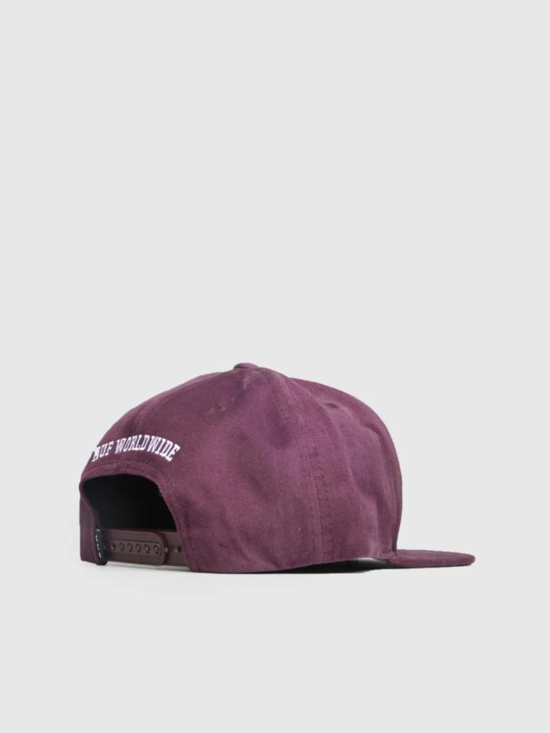 HUF HUF Triple Rose Snapback Hat Port Royale Ht00284