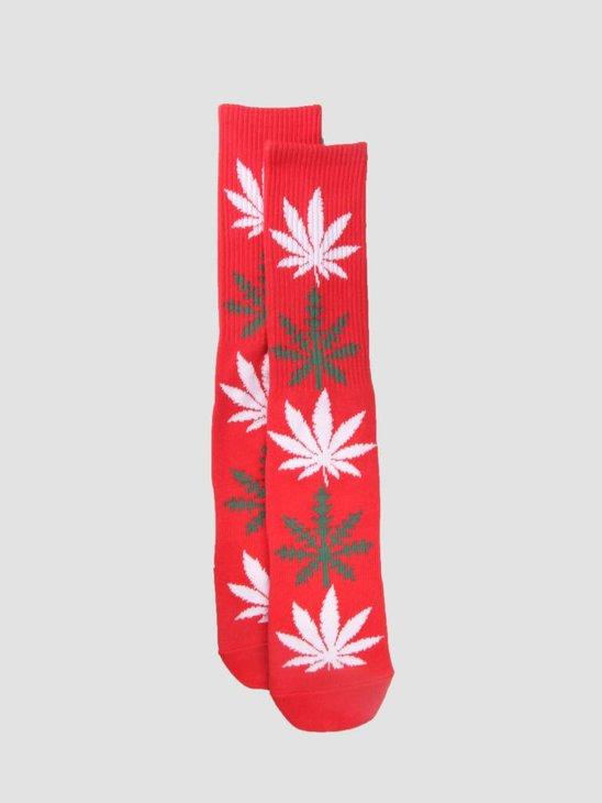HUF Plantlife Glowflake Socks Red SK00303