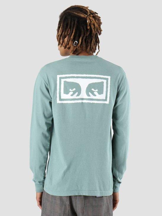Obey OBEY Eyes 3 Longsleeve Atlantic green 167101826-ATL