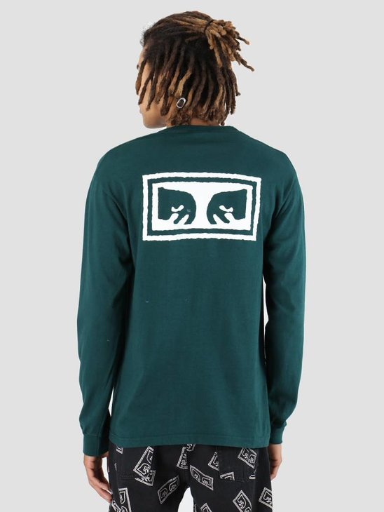 Obey OBEY Eyes 3 Longsleeve Forest pine 167101826-FOR