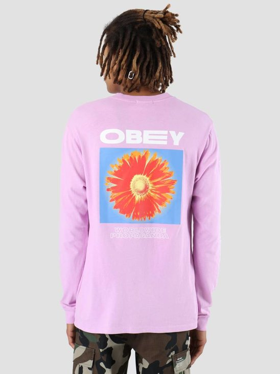 Obey Flower Power Longsleeve Dusty lavender 166731861-LAV