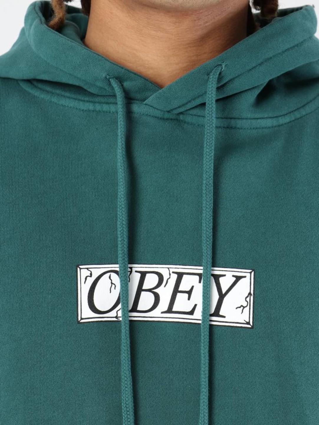 Obey Obey OBEY Philosophy Fleece Hoodie Dusty pine 112651857-PNE