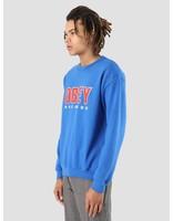 Obey Obey OBEY Records 2 Fleece Crew Royal blue 114981786-RYL