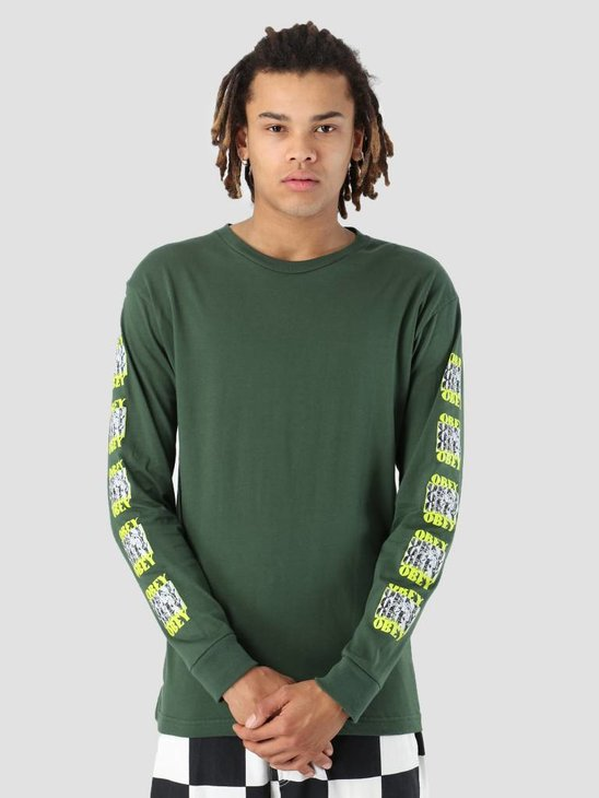 Obey Spidey Longsleeve Forest green 164901868-FOR