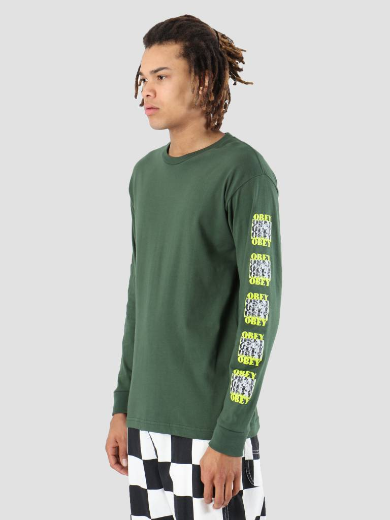 Obey Obey Spidey Longsleeve Forest green 164901868-FOR