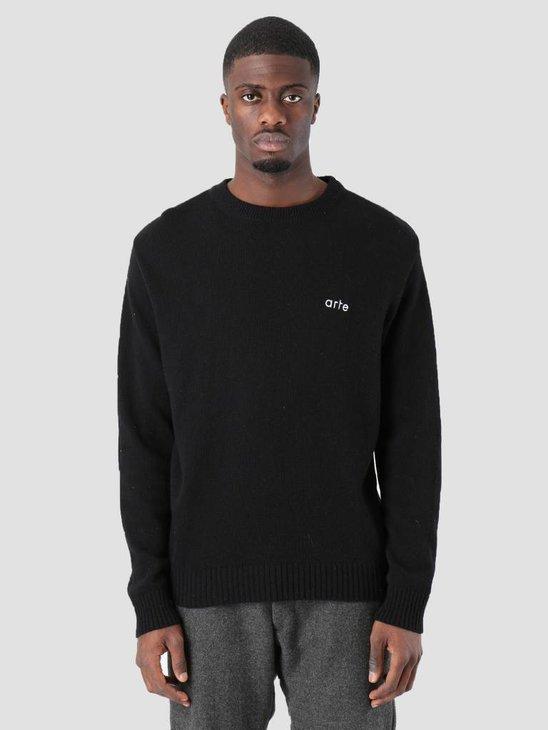 Arte Antwerp Kendrick Knitwear Sweater Black AW18-024