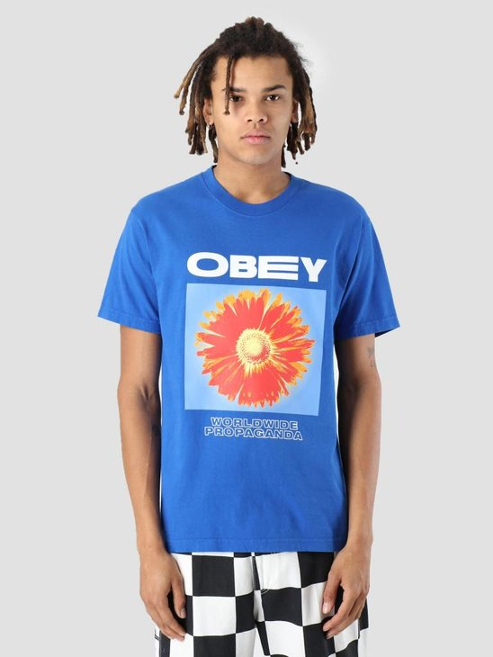 Obey Flower Power T-Shirt Royal blue 166911861-RYL