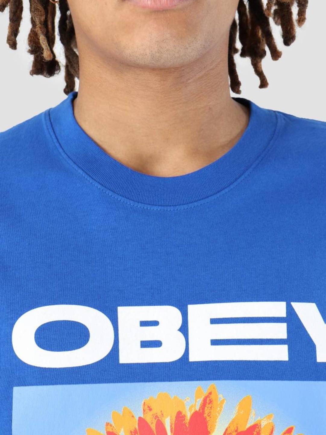 Obey Obey Flower Power T-Shirt Royal blue 166911861-RYL