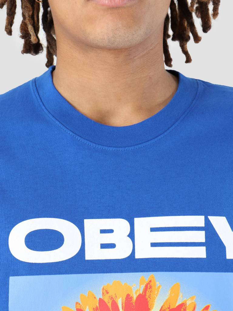 Obey Obey Flower Power T-Shirt Royal blue 166911861-RYL