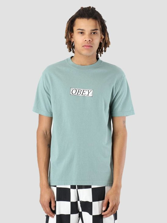 Obey OBEY Philosophy T-Shirt Atlantic green 166911857-ATL
