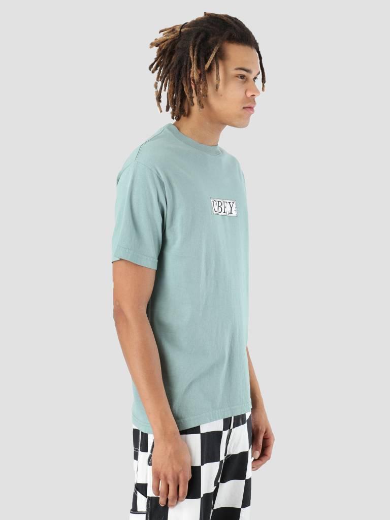 Obey Obey OBEY Philosophy T-Shirt Atlantic green 166911857-ATL
