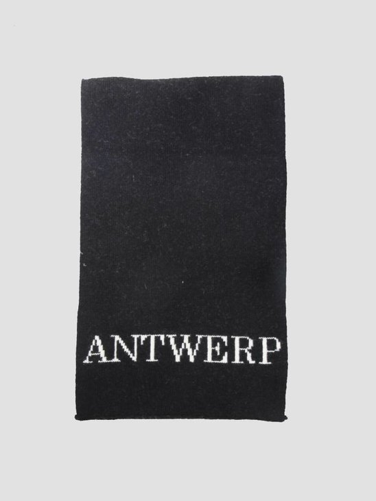 Arte Antwerp Avon Knitted Scarf Black AW18-058