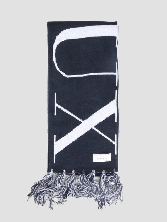 Les Deux Fan Scarf Dark Navy White LDM910003