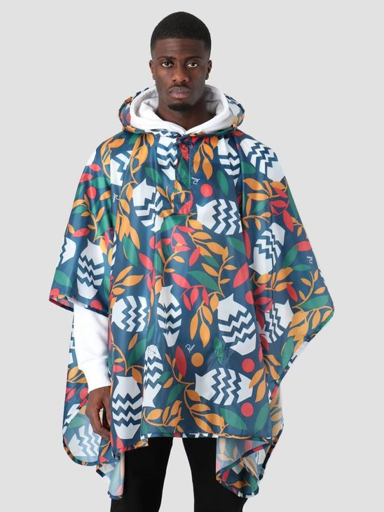 By Parra Still Life With Plants Rain Poncho Multi Color 41920