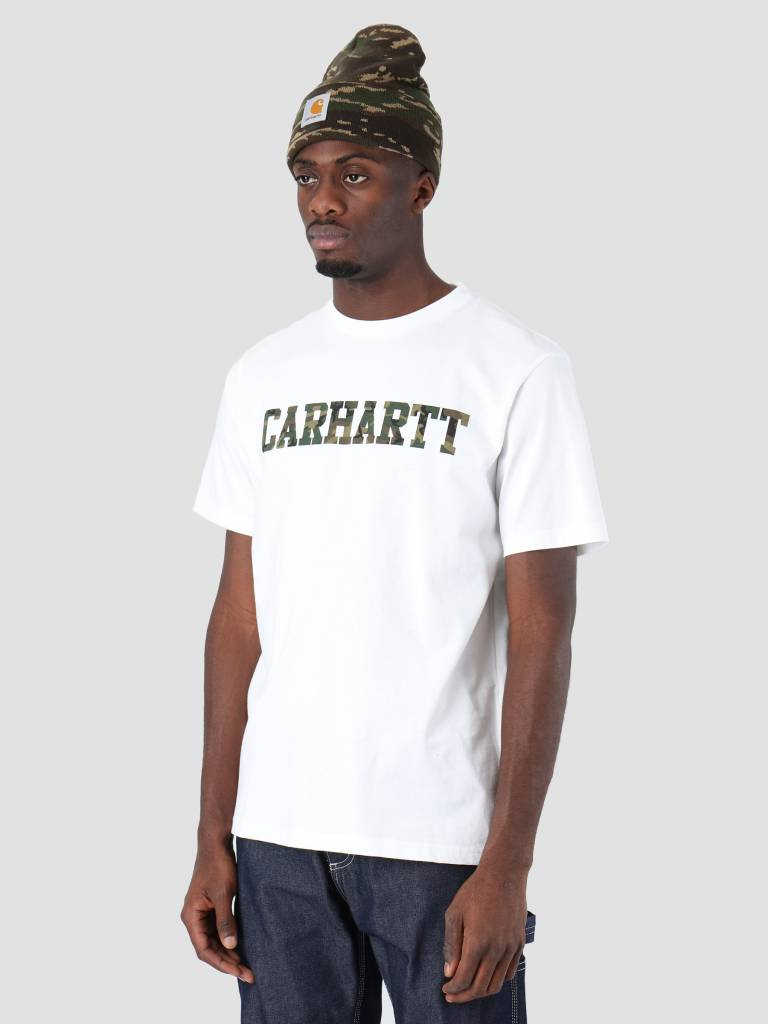 Carhartt Carhartt College T-Shirt White Camo Laurel I024772-292