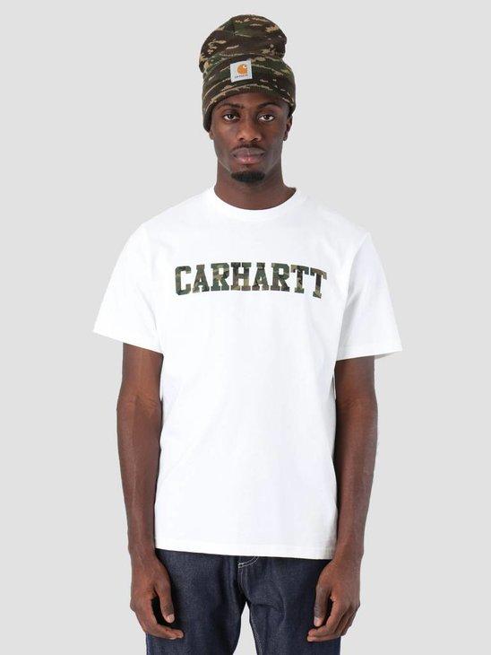Carhartt College T-Shirt White Camo Laurel I024772-292