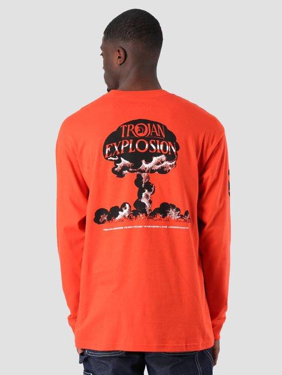 Carhartt Longsleeve TROJAN Explosion T-Shirt Trojan Red