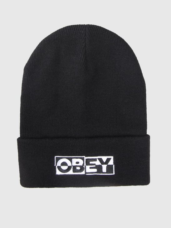 Obey Downbeat Beanie Black 100030142-BLK