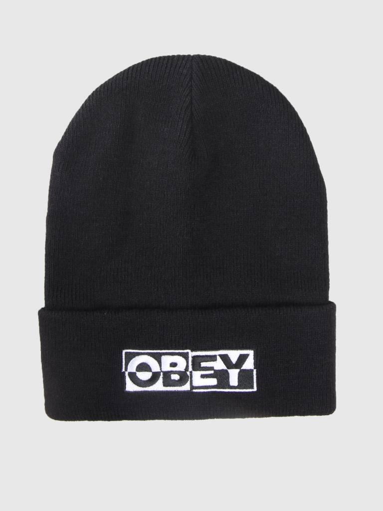 588d84ffc5dd Obey Downbeat Beanie Black 100030142-BLK - FRESHCOTTON