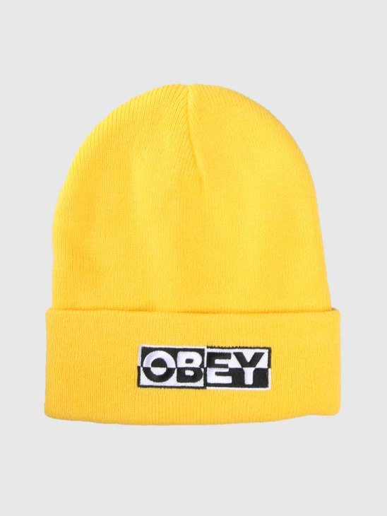 Obey Downbeat Beanie Yellow 100030142-YEL