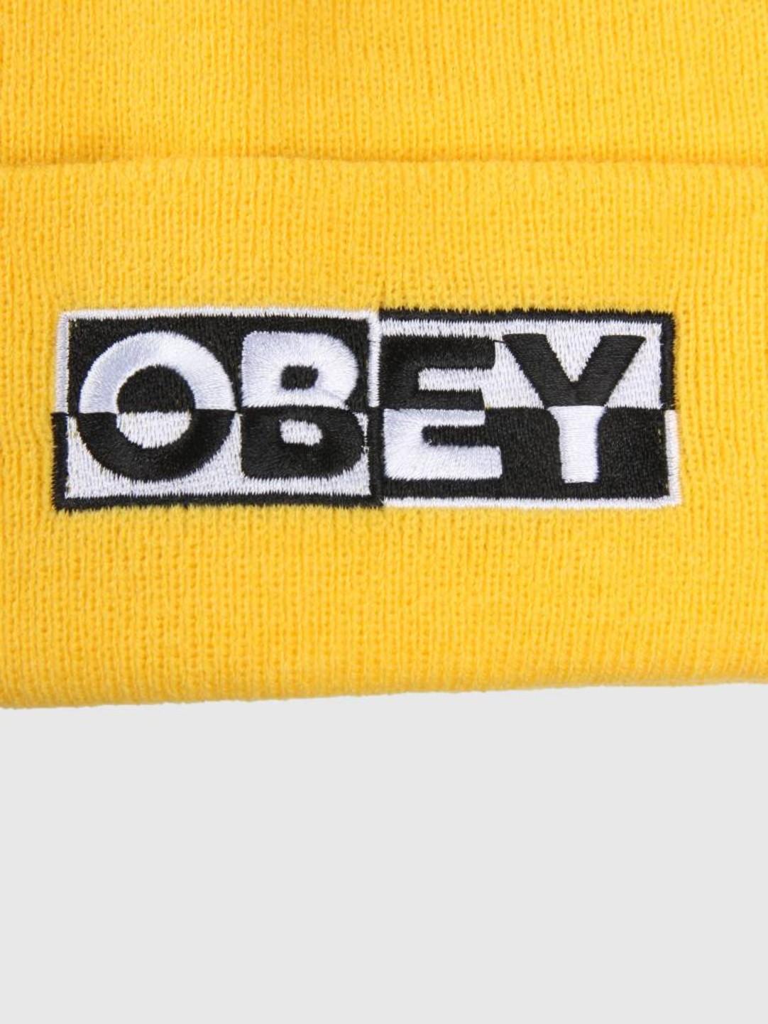 Obey Obey Downbeat Beanie Yellow 100030142-YEL