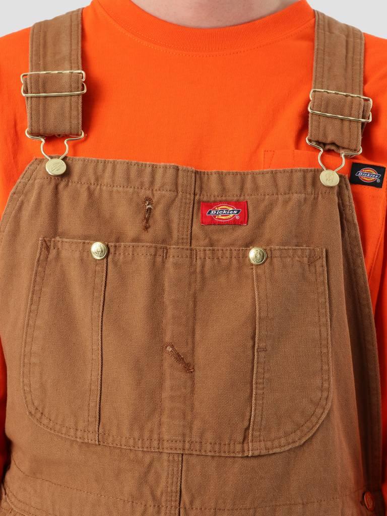 Dickies Dickies Bib Overall Rinsed Brown DB100