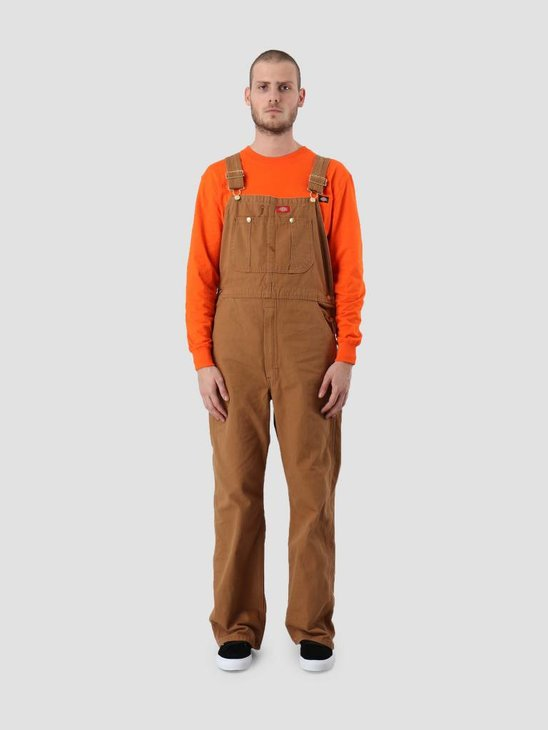 Dickies Bib Overall Rinsed Brown DB100