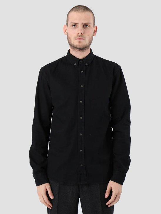 Kronstadt Johan Denim Longsleeve Shirt Black KRFH18-20058