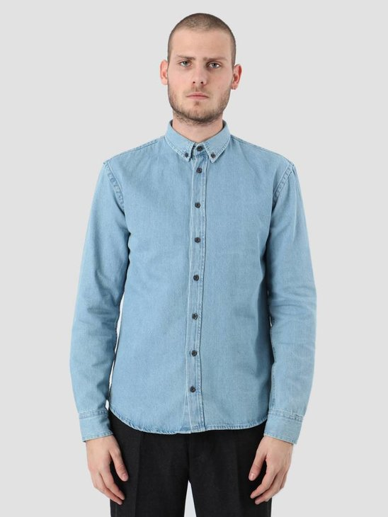 Kronstadt Johan Denim Longsleeve Shirt Light Blue KRFH18-20058