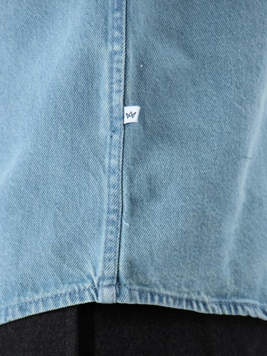 Kronstadt Kronstadt Johan Denim Longsleeve Shirt Light Blue KRFH18-20058