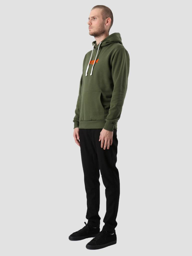 Les Deux Les Deux Argot Hoodie Dark Green Orange LDM201013