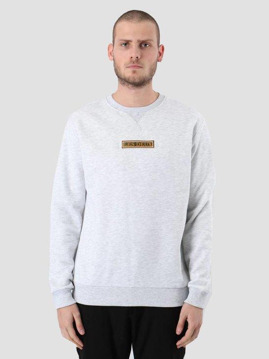 Les Deux Astor Sweatshirt Snow Melange LDM200034
