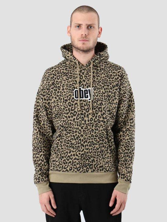Obey Gusto Hood Kahki leopard 112470037-LEO