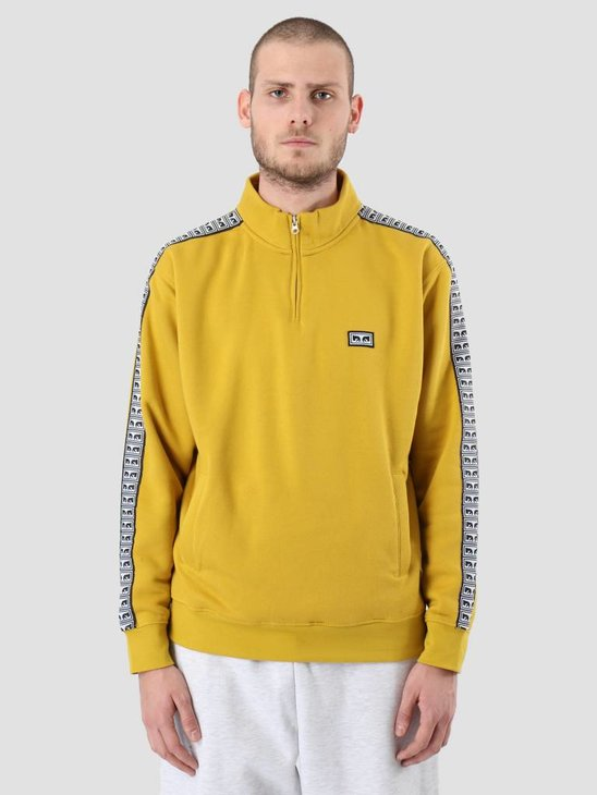 Obey Bridges Mock Neck Zip Golden olive 111620043-GLD