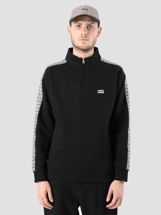 Obey Bridges Mock Neck Zip Black 111620043-BLK