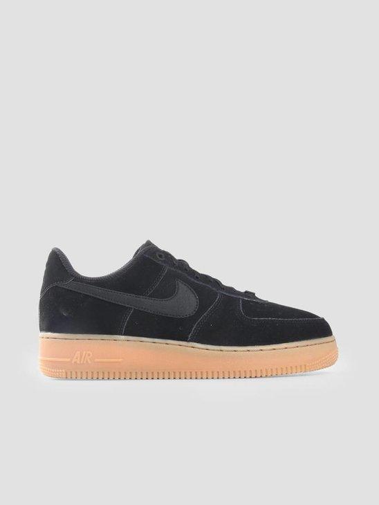 Nike Air Force 1 '07 Se Black Black Gum Med Brown Ivory Aa0287-002