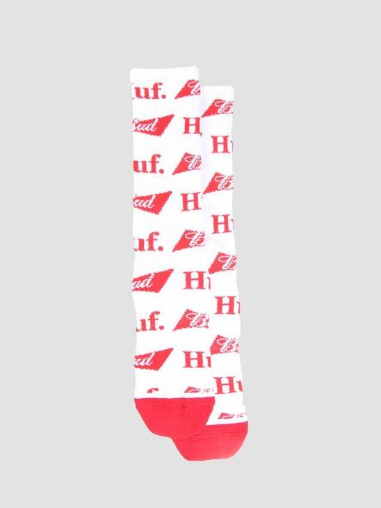 HUF Bud Bow Crew Sock White SK00358