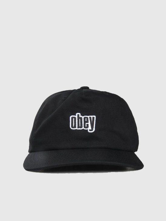 Obey Highland Strapback Black 100570086-BLK