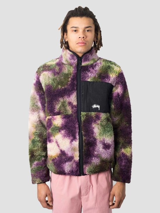 Stussy Rev. Micro Fleece Jacket Jacket Tie Dye 2198