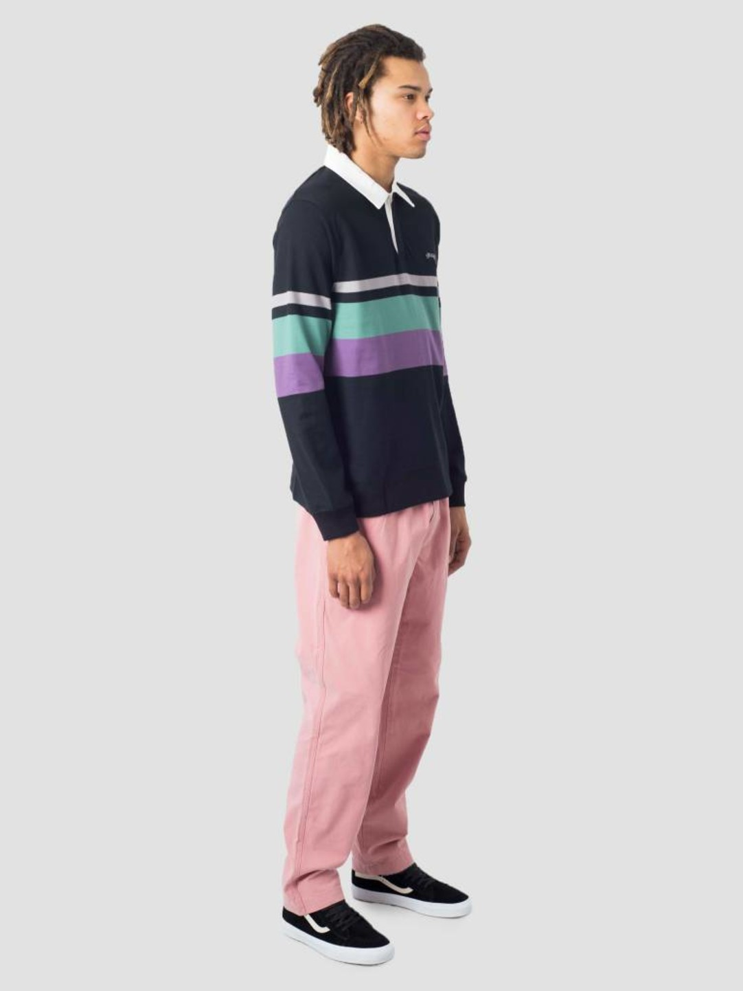 Stussy Stussy Lucas Stripe Knit Sweater Black 0001