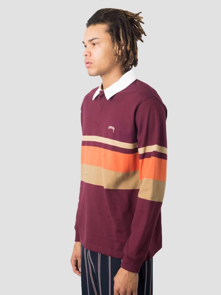 Stussy Stussy Lucas Stripe Knit Sweater Maroon 1017